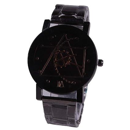 JINPENGRAN Relojes, Relojes para Parejas, Relojes De Cuarzo, Relojes con Puntero De Engranaje