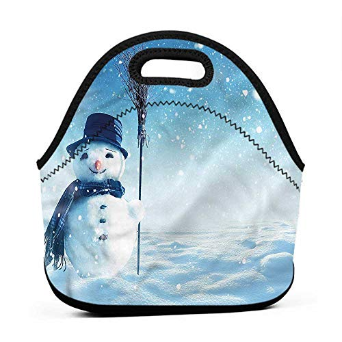 - for Womens Mens Boys Girls Snowman,Wintry Land Snowy Cold,barcelona lunch bag for school