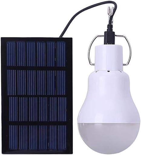 Solar Power LED Ball Glühbirne Wiederaufladbare Camping Garten Outdoor Lampe DE