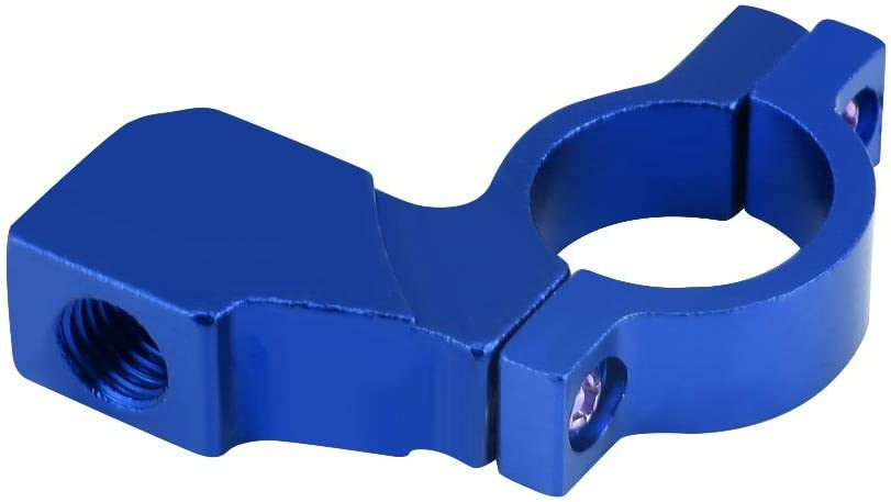 blanc support de fixation support de r/étroviseur de guidon universel Keenso 10mm pince Support de r/étroviseur de moto de 7//8 po de 22 mm