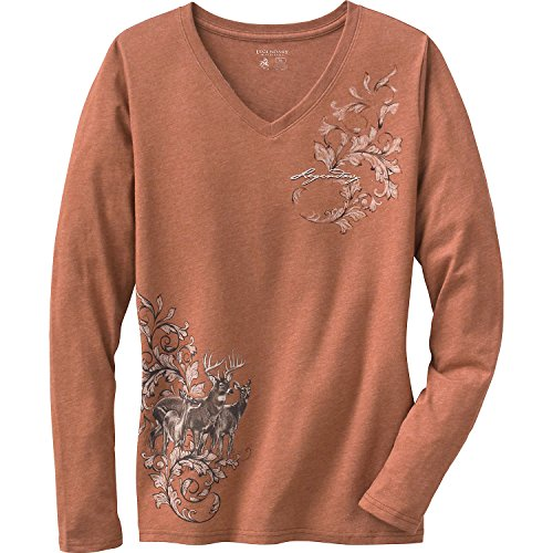 Legendary Whitetails Ladies Mystic Legends Long Sleeve Tee Canyon Heather (Legendary Sport Prints Iron)
