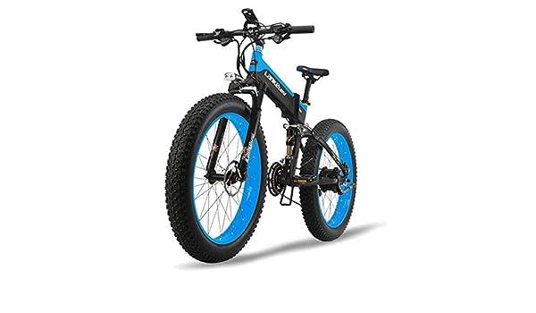 JPFCAK, Eléctrico, Bicicleta, Plegable, Montaña, Bicicleta, Neumático De Nieve 10cm, Vehículo Eléctrico Plegable Todo Terreno, Motor 500W, Bicicleta De 5 ...