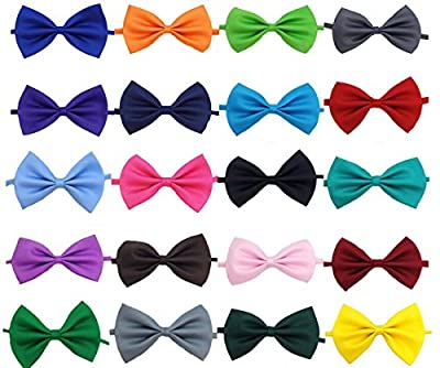 Glittermall Pack of 12pcs Solid Color Adjustable Boys Kids Bow Tie Collection