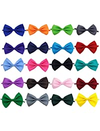 Solid Color Adjustable Boys Kids Bow Tie Collection - 20 Mixed Color/20pcs