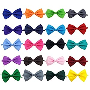 Glittermall  Solid Color Adjustable Boys Kids Bow Tie Collection – 20 Mixed Color/20pcs
