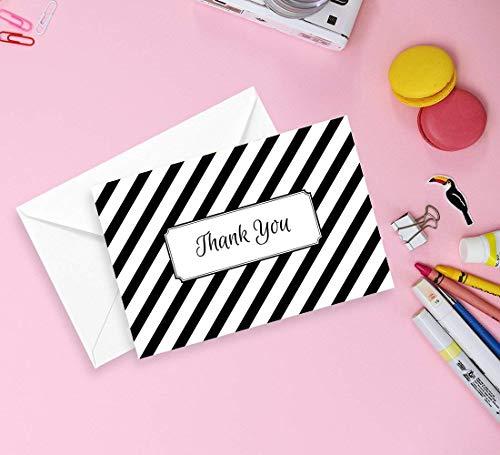 Modern Geometric Thank You Cards Bulk 36 Set Blank Thank You Notes