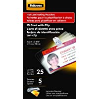 Fellowes Laminating Pouches, Thermal, ID Tag Size, 5 Mil, 25 Pack (52033)