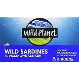 Wild Planet Sardines in Spring Water, 125 Gram