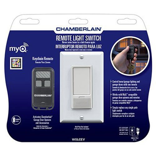 Chamberlain WSLCEV MyQ Light Switch Control, Control Home Lighting with Included Remote or MyQ Technology (Sold Separately)
