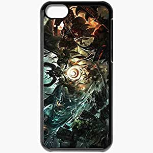 Personalized iPhone 5C Cell phone Case/Cover Skin Art Battle Monsters Weapon Demons Black
