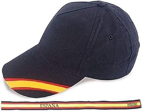 crisandecor Gorra Azul Bandera de España y Regalo Pulsera Tela Bandera Española: Amazon.es: Ropa y accesorios