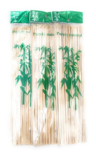 Best Prices! Bamboo Skewers Wooden BBQ Sticks, 240 Ct(3 pack 0f 80 each),12 inch