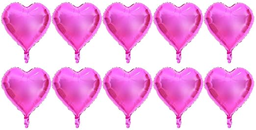 "10PCS Rose Gold 18/"" Foil Heart Balloon Set Helium Wedding Party Birthday Decor"