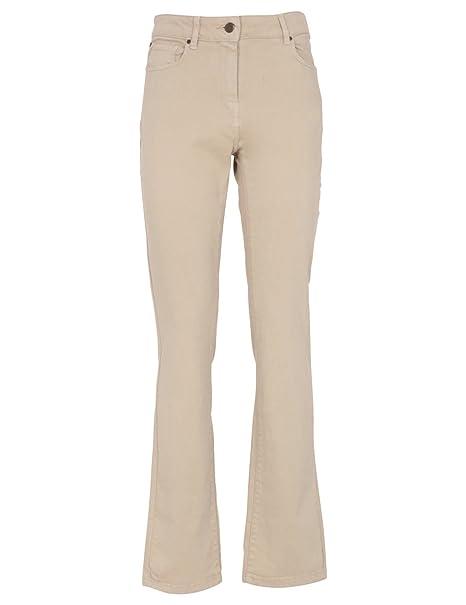 Monoprix Femme - Pantalon 5 poches taille haute en denim - Femme - Taille    44 5590db469df0
