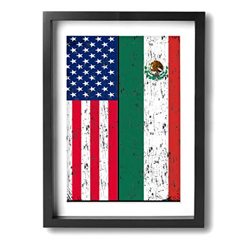 (Arnold Glenn Retro Mexican American Flag Mexico -Picture Paintings 12