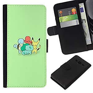 All Phone Most Case / Oferta Especial Cáscara Funda de cuero Monedero Cubierta de proteccion Caso / Wallet Case for Samsung Galaxy A3 // Cute Poke Monster Charactors