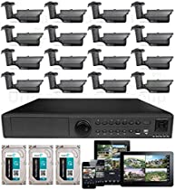 USG 16x 3MP Cameras IP CCTV Kit: 1x 16 Channel NVR + 16x 3MP IP PoE 2.8-12mm Bullet Cameras + 3x 3TB HDD (9TB Total) *** Ultra High Definition Video Surveillance For Your Home or Business!