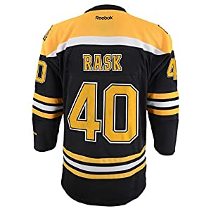 Tuukka Rask Youth Boston Bruins NHL Reebok Black Replica Jersey