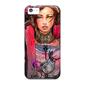 Top Quality Protection Fantasy Artistic Girl Case Cover For Iphone 5c