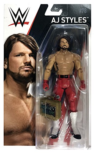 AJ Styles Mattel WWE Basic Series 78 Chase with Money In the Bank Case
