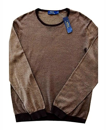 Polo Ralph Lauren Men's Crew Neck Herringbone Print Sweater (XX-Large, Beige Multi) by Polo Ralph Lauren