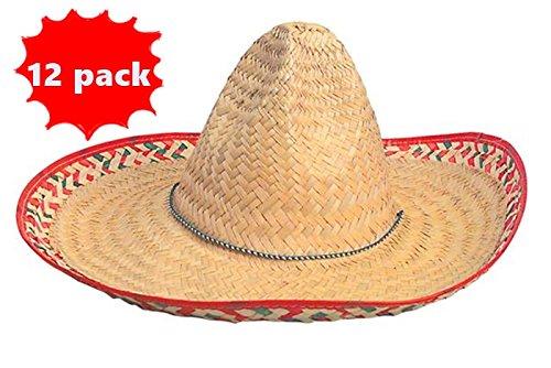 Adult Embroidered Fiesta Sombreros (1 Dz) Cinco De Mayo Sombrero Hats