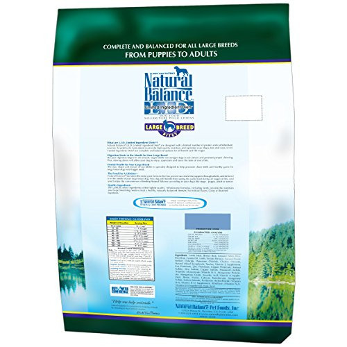 Natural-Balance-Dry-Dog-Food-Limited-Ingredient-Diet-for-Large-Breeds-Lamb-Meal-and-Rice-28-Pound-Bag