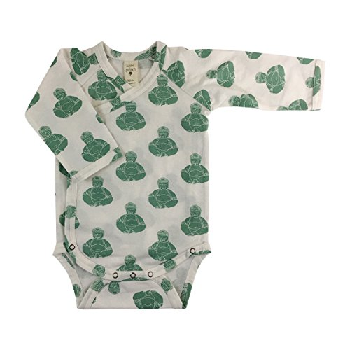 Kate Quinn Organics Unisex-Baby Long Sleeve Kimono Bodysuit, 18-24M (Budha) - Organic Kimono