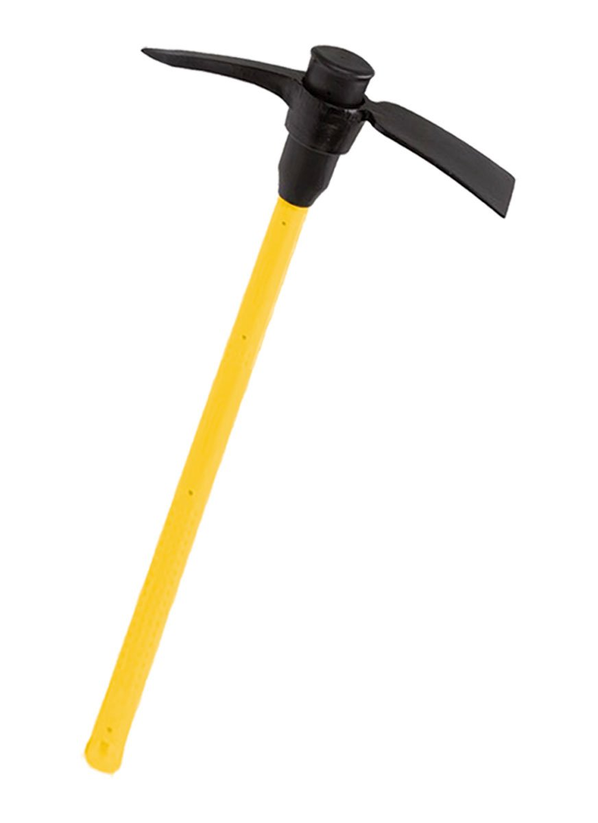 Bully Tools 93540 Hickory Garden Pick Mattock with Fiberglass Handle