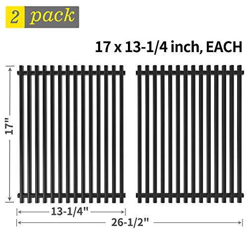 e 17 inch Replacement for Kenmore 122.16641900, 122.16119, Uniflame GBC981W, Nexgrill 720-0341 and More, 2 Pack Porcelain Steel BBQ Grid Barbecue Cooking Grate Parts(SS-KW011) ()