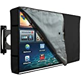 """Outdoor TV Cover with Clear Front, Universal Weatherproof Protector for 40"""" – 42"""" TV - Fits Most Mounts & Brackets"""