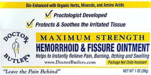 Doctor Butler's Hemorrhoid & Fissure Ointment   FDA Approved Relief &  Healing Formula (also
