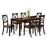 East West Furniture CAB7S-CAP-W 7-Piece Formal Dining Table Set