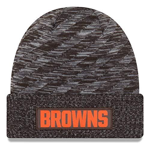 固執政治カイウスニューエラ (New Era) NFL サイドライン 2018 ニット ビーニー帽 - クリーブランド?ブラウンズ (Cleveland Browns)