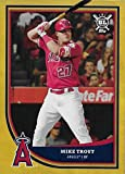2018 Topps Big League Gold #150 Mike Trout Los Angeles Angels Baseball Card