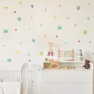 funlife 12 Sheets DIY Self-Adhesive Haystack Wall Stickers, Peel and Stick Nursery Kids Wall Decals, Background Living Room Classroom Decoration, Girls Bedroom Wall Decor, 5.8