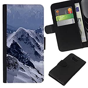 All Phone Most Case / Oferta Especial Cáscara Funda de cuero Monedero Cubierta de proteccion Caso / Wallet Case for Samsung ALPHA G850 // The Mountains Snowy Alps
