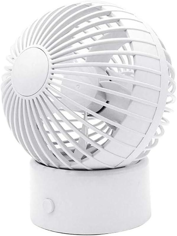 Shentesel Mini Cooling Fan Mute 60 Degree Rotatable USB Rechargeable Desktop White