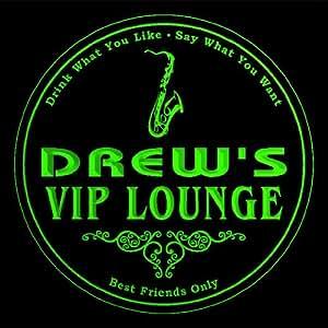 4 x ccqi0422-g Drew es salón VIP saxofones de cerveza 3D bebida posavasos de