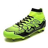 zapatos de football - DREAM PAIRS Men's 160858-M L.Green Black Fashion Cleats Football Soccer Shoes Size 9.5 M US