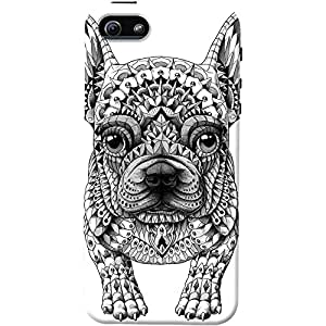 DailyObjects Frenchie Case For iPhone SE