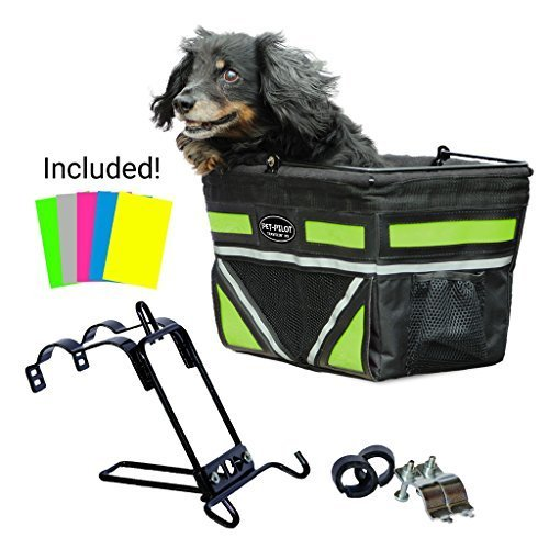 Pet Pilot Dog Bike Basket | includes 5 color inserts