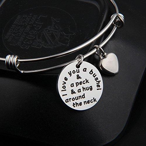 KUIYAI I Love You a Bushel and a Peck Bracelet Mom Grandma Bracelet (Silver) by KUIYAI (Image #2)'