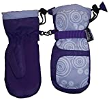 N'Ice Caps Girls Thinsulate and Waterproof Circle Scroll Print Snow Mittens (3-4yrs, purple/lavender/white)