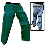"""Forester Chainsaw Safety Chaps with Pocket, Apron Style (Short 35"""", Forest Green)"""