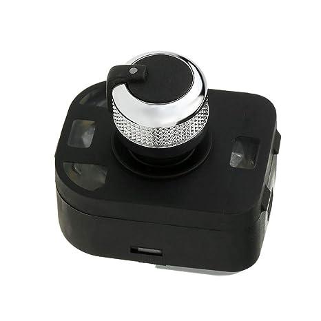 fgyhtyjuu Fachada Lateral de Control Espejo botón Interruptor de Ajuste Perilla 4F0959565 Coche Accesorios Interior