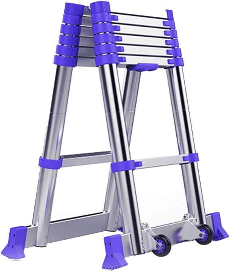 Escalera extensible/ Escalera telescópica Plegable Profesional Multiusos Plegable telescópica de Aluminio, 2.65m + 2.65m / 2.95m + 2.92m / 3.25m + 3.25m: Amazon.es: Hogar