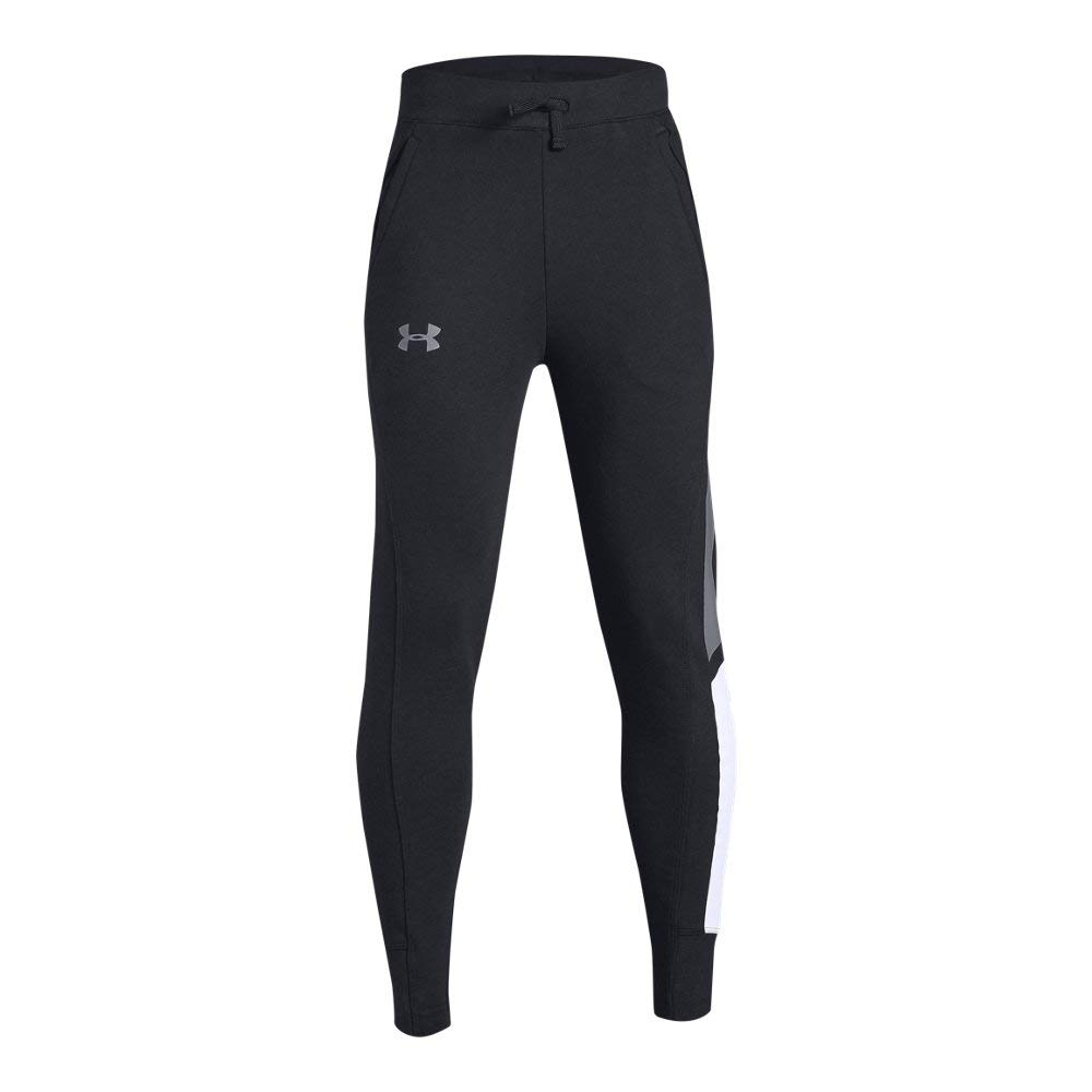 Under Armour Boys Rival Jogger, Black (001)/Steel, Youth Small by Under Armour