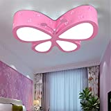 Leihongthebox Ceiling Lights lamp Children butterfly ceiling LED girls/PRINCESS kids room Ceiling lamp for Hall, Study Room, Office, Bedroom, Living Room,500mm