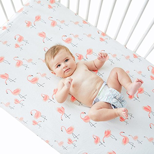 Quest Sweet Crib Sheets,Durable Cotton Toddlers Sheets in Cute Colors for Babies